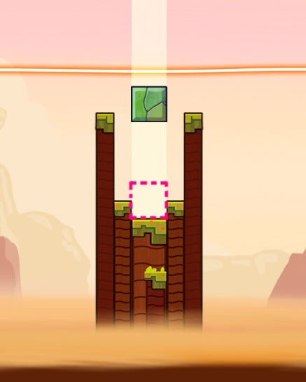Affordances are created to give the player hints on where to place a brick.